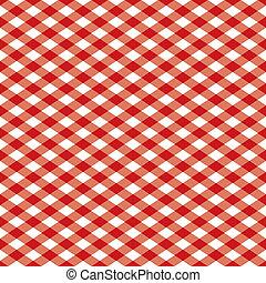 rød, mønster, gingham