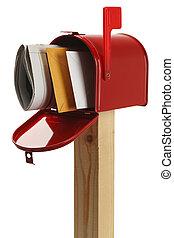 rød, postkasse