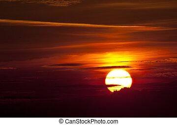 rød, solopgang