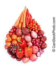 rød, sund mad