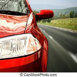 rød vogn