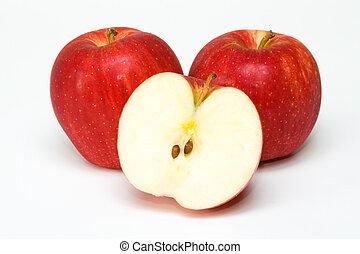 rødt æble