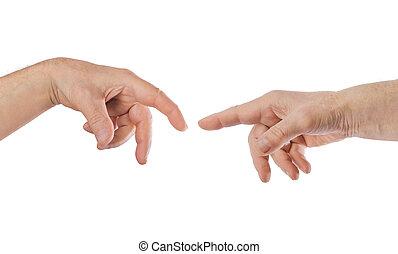 røre, hænder