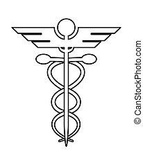 rúd, asclepius, ikon