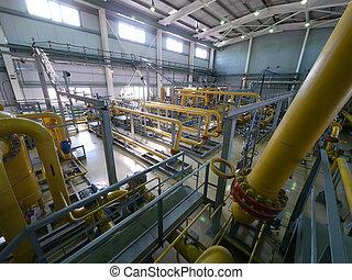 rússia, nadym, -, junho, 8, 2011:, equipamento, de, corporação, gazprom, i
