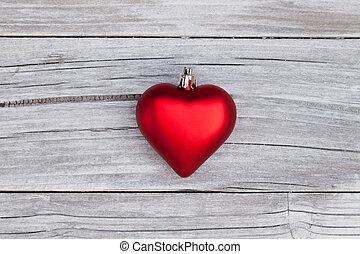 rústico, corazón, madera, navidad
