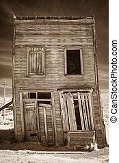 rústico, edificio, viejo