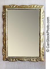 rústico, espelho