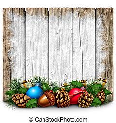 rústico, feriado, natal, sinal