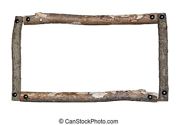 rústico, frame madeira