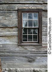 rústico, janela, 1