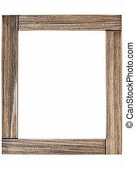 rústico, marco de madera, foto