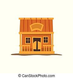 rústico, registro, casa madeira, ilustração, tradicional, eco, vetorial, fundo, branca, cabana