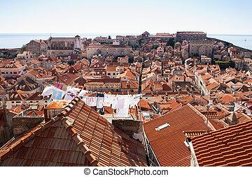 rüber schauen, dachenden, kroatien, dubrovnik