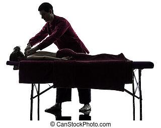 rückenmassage, therapie