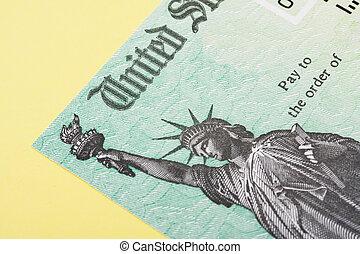 rückerstattung, steuer, scheck