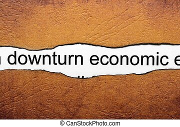 rückgang, wirtschaftlich