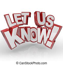 rückkopplung, uns, lassen, wissen, wörter, eingabe, comments