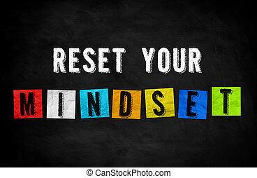 rücksetzen, begriff, -, tafel, dein, mindset