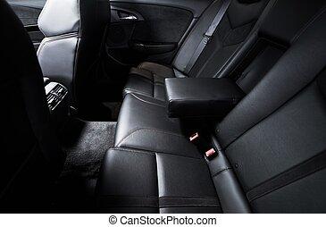 rücksitz, auto, reise