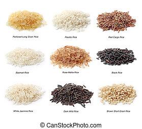 rýže, vybírání
