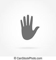 ręka, ikona