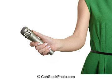 ręka, mikrofon
