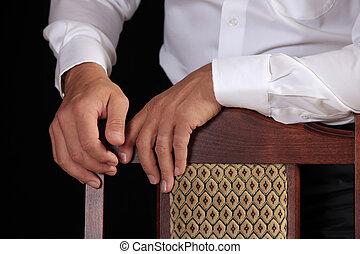 ręka, od, przedimek określony przed rzeczownikami, biznesmen