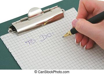 ręka, samica, pisanie