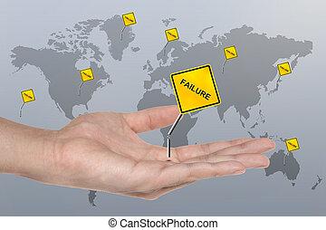 ręka, symbol, z, brak, znak, handlowe pojęcie