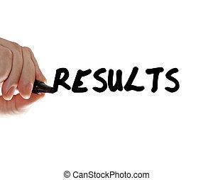 ręka, wyniki, markier