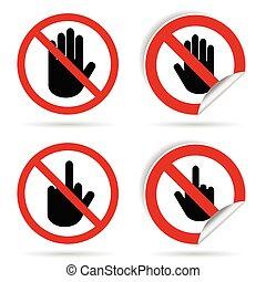 ręka wystawiają, ilustracja, znak