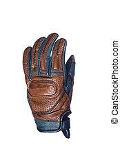 rękawiczka, closeup, motocyklista, opalenizna, concepts., ...