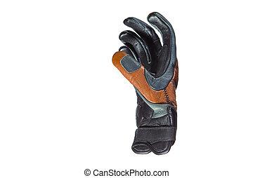 rękawiczka, closeup, motocyklista, przeciw, opalenizna, ...
