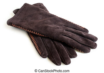 rękawiczki, zamsz, damski