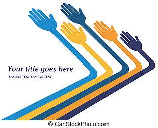 ręki dojeżdżające, poza, design.