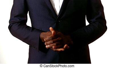ręki klaszczące, biznesmen