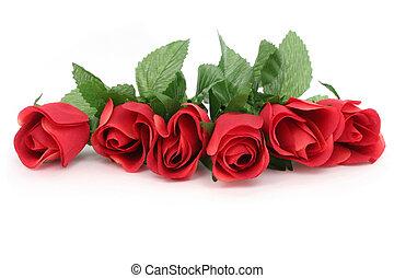 růže, červeň
