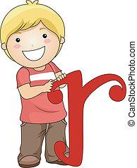 r, 手紙, 子供