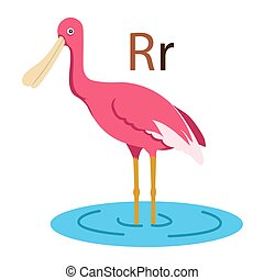 R alphabet vector animal