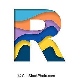 r, barwny, litera
