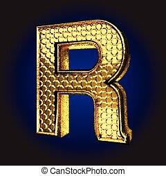 r golden letter