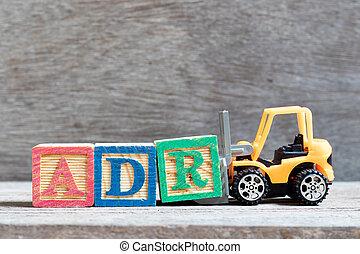 r, jouet, mot, complet, (abbreviation, élévateur, drogue, adverse, bois, fond, lettre, adr, prise, reaction), bloc