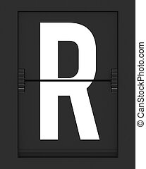 R Letter from mechanical timetable board