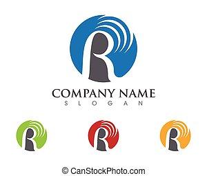 R Letter Logo Template vector icon design