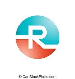 R logo Design. - Abstract letter R logo design template....