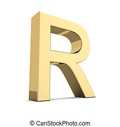 r, or, lettre