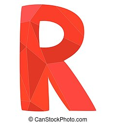 R red alphabet vector letter