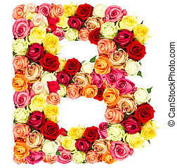 R, roses flower alphabet