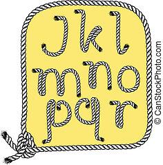 r, tipografia, j
